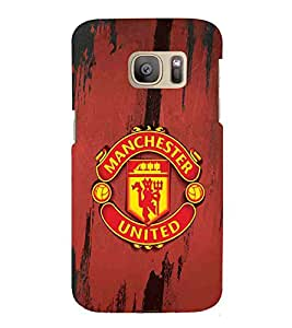 For Samsung Galaxy S7 Edge :: Samsung Galaxy S7 Edge Duos :: Samsung Galaxy S7 Edge G935F G935 G935FD red icon ( nice icon, beautiful icon, red background, lion, football ) Printed Designer Back Case Cover By Living Fill