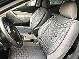 Sitzbezüge k-maniac | Universal grau | Autositzbezüge Set Vordersitze | Autozubehör Innenraum | Auto Zubehör für Frauen und Männer | V234671 | Kfz Tuning | Sitzbezug | Sitzschoner