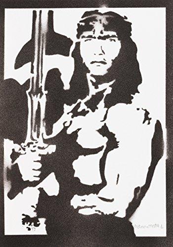moreno-mata Conan der Barbar Handmade Street Art - Artwork - Poster (Film-poster Edition)
