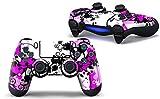 Skins4u Film de protection autocollant pour manette de Playstation4 de Sony, y compris PS4 Slim et PS4 Pro, More Pink