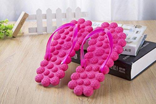 Orchidée mhgao Creative de Salle de Bain de Massage Home Pantoufles Rose
