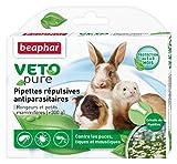 Beaphar - VETOpure, pipettes répulsives antiparasitaires - rongeurs et petits mammifères - 6 pipettes