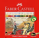 Faber-Castell 115845 - Buntstifte Classic Colour, 24er Metalletui