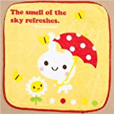 cute towel white bunny umbrella flower