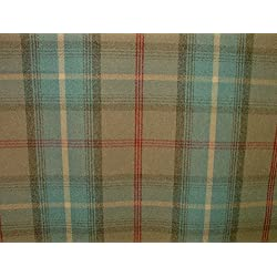 1Metre Balmoral océano lana efecto lavable a DE grosor diseño DE tela escocesa tapicería y cortina funda de tela