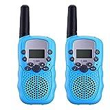 Apeanut 2er Walkie Talkie Funkgerät Funkhandy UHF 446.00625-446.09375MHz Vox 8 Kanäle mit LC-Display für Geschenke Mikrofon Kinder Baby Kleinkind ab 5 Jahre(Blau)