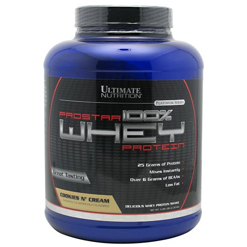 Ultimate Nutrition Prostar 100% Whey Protein - 5.28 lbs (Cookies 'n Cream)