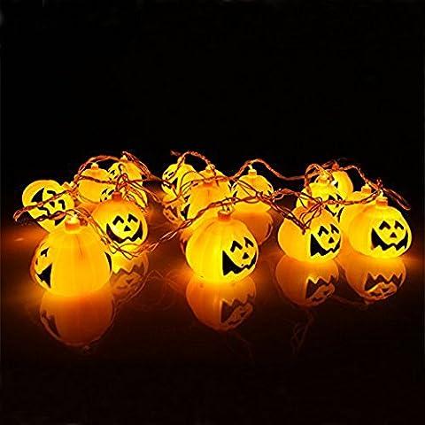 K-Bright festival de linternas de calabaza 20 llevó la lámpara estroboscópica fantasma de Halloween enciende las luces al aire libre atmósfera de cuerda accesorios