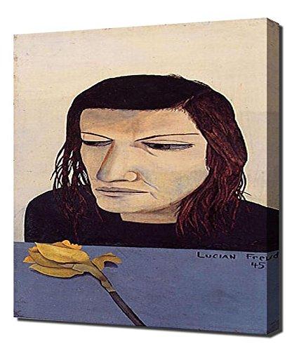 Woman With A Daffodil - Lucian Freud - Art Leinwandbild - Kunstdrucke - Gemälde Wandbilder Womens Daffodil