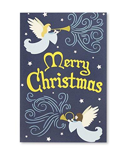 48-pack Frohe Weihnachten Grußkarten Bulk Box Set-Winter Urlaub Weihnachts Grußkarten mit Engel Design, Umschläge enthalten, 10,2x 15,2cm