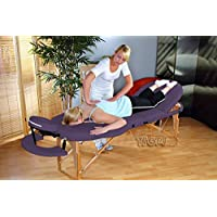 Luxus Portable Oval Massage Table, 3 sections, Reiki Beauty Couch - PURPLE by Kingpower TSGPS