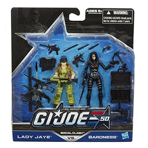 G.I. Joe 50th Anniversary Social Clash 2 Pack Lady Jaye Vs Baroness by G. I. Joe (Baroness Joe Gi)