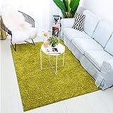 Enkoo Tappeto in stile europeo tappeto tavolino colore solido moderno minimalista capelli lunghi crittografia poliestere spesso ecologico casa camera da letto comodino coperta Camel colore corrisponde