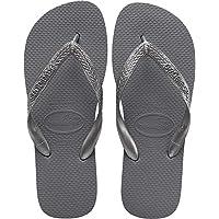 Havaianas Women's Top Tiras Flip Flop Sandal, Steel Grey, 7/8 M US