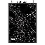Mr. & Mrs. Panda Poster DIN A2 Stadt Düren Stadt Black -