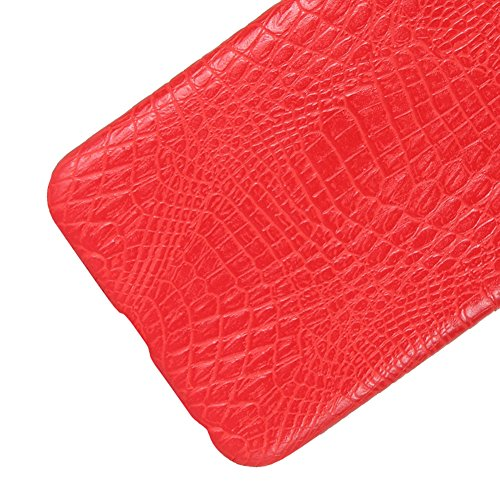 Coque pour iPhone X, iPhone 10, SunFay Etui Rigide PC Solide PU Cuir Slim Mince Simple Anti-Rayures Léger Protection Case Etui Coque pour iPhone X, iPhone 10 - Rouge Rouge