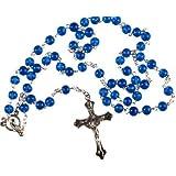Rosary. Rosary Bead. Rosaries. Blue rosary. Man's Rosary.
