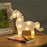 CO-Z LED Einhorn Lampe Nachtlichter Nachtlicht Nachtleuchte Nachtlampe Stimmungslicht Unicorn Night Light Babyzimmer Kinderzimmer Dekoration Batterien Betrieben