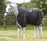 Premier Equine Weidedecke Buster Hardy 100g Half Neck Turnout Rug Größe 6´0 (Stockmaß 157-162 cm), Farbe Black