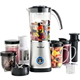 VonShef 4 in 1 Blender - Multifunctional Smoothie Maker, Juicer & Grinder, 1 L Capacity Jug, Silver