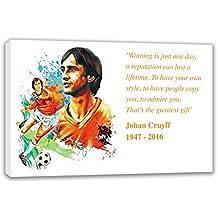 "Johan Cruyff Holland Conmemorativa de la legend Lienzo, 44X26"""