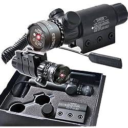 IRON JIA'S Red dot laser portée de vue 2 interrupteur kit de support de rail