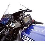 "Centro Yugo Fork Stem 17,5–20,5mm, Soporte de moto con carcasa impermeable para GPS TomTom One hasta 5"""