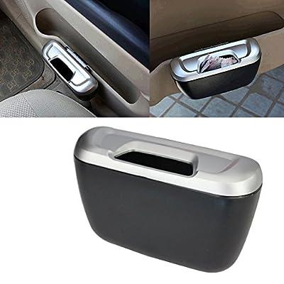 Generic Car Accessories Door Trash Bin Mini Portable Car Auto Garbage Trash Rubbish Can Dust Box Holder Car Organizer 1pc
