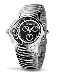 Roberto Cavalli Unisex Watch R7273649025 In Collection Caracter, Chrono, Black Dial and Stainless Steel Bracelet