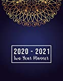 2020-2021 Two Year Planner: 2020-2021 monthly planner full size | Luxury Mandala Cover | 2 Year Calendar 2020-2021 Monthly | 24 Months Agenda Planner ... for mom (2 year monthly planner 2020-2021)