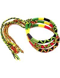 Perle Stretchbar Armband Weed Cannabis Jamaikanische Marijunana Accessoire Rasta