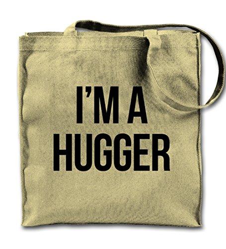 I'm A Hugger Friendly Cute Komisch Natürliche Leinwand Tote Tragetasche, Tuch Einkaufen Umhängetasche -