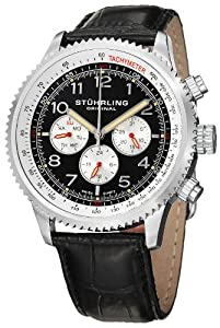 Stuhrling Original 858L.01 - Reloj de pulsera hombre, piel, color negro de Stuhrling Original