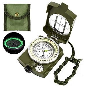 Etmury Kompass ,Militär Marschkompass, Professioneller Militär Navigation Kompass mit Fluoreszierendem Design…