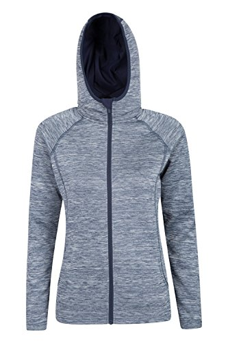 Mountain Warehouse IsoCool Dynamic Chakra Womens Hoodie - Lightweight Jacket, Quick Dry, Breathable Ladies Summer Jacket, Antibacterial, Wicking Top - for Travelling
