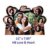 Personalised HB Love & Heart Photo Frame (11 X 7.85 Inches ) Gift For Boyfriend Gift For Wife Gift For Husband Photo Gifts Online An Ever-lasting Memory