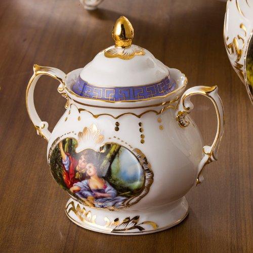 ufengke® English Königliche Europäisch Bone China Wald Lovers Kaffee-Set Tee-Set