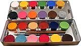 Eulenspiegel Schminkpalette mit 3 Profipinsel, 24 Farben Bild