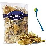 Lyra Pet 100 Lammohren getrocknet Kausnack Hundefutter Belohnung + Ballschleuder