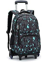 Preisvergleich für Junge Mädchen Trolley Schultaschen Rucksack - Kinder Rollen Schulrucksack Schultasche Rucksäcke Rollenreisetasche...