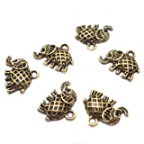 #8: Beadsnfashion German Silver Charms Golden 17x14 mm, Pack Of 50 Pcs.