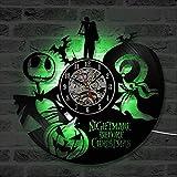 ChuanHan Ventilador de Techo Lámparas de Araña Lámparas Reloj de Pared Récord Reloj de Pared Inyl Récord Lámpara Led - Luz Nocturna Romántica - Ideal para Niños