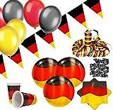 XXL 76 Teile Deutschland Party Deko Basis Set 10 Personen