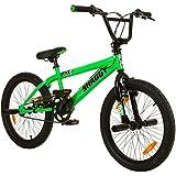 deTOX 20 Zoll BMX Big Shaggy Spoked 8 verschiedene Farben zur Auswahl + 4 Pegs inkl, Farbe:Grün Schwarz