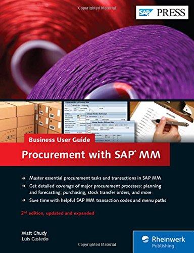 Procurement with SAP MM: Business User Guide (SAP PRESS: englisch)