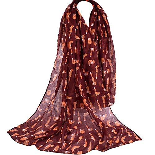 ABsoar Schal Damen Mode Weiblicher Strand Mehrzweckschal Halstücher Seidenschal Frauen Farbverlaufs Druck Schals Seidenschal Umschlagtuch Winterschals