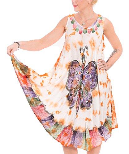 Gadzo strandkleider damen sommer Sommerkleid strandkleider bunt Tunika strandkleid orange StB0243
