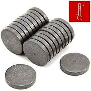 first4magnets 30 mm durchmesser 5 mm dicker y10 ferrit magnet 1 1 kg anziehungskraft 2 st ck. Black Bedroom Furniture Sets. Home Design Ideas
