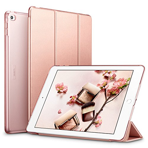 ESR Yippee Smart Case für das iPad Air 2, Smart Case Cover [Synthetikleder] Durchscheinend mattierte Rückseite magnetische Abdeckung mit Auto Sleep/Wake Funktion [geringes Gewicht] ()