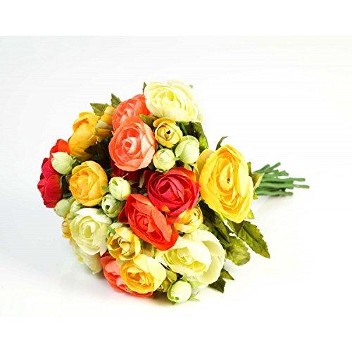 Mazzo di ranuncoli artificiale con 18 fiori, gemme, variopinto, 30 cm, Ø 25 cm - bouquet floreale / composizione di fiori artificiali - artplants
